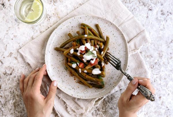 Mediterranean Style Green Beans