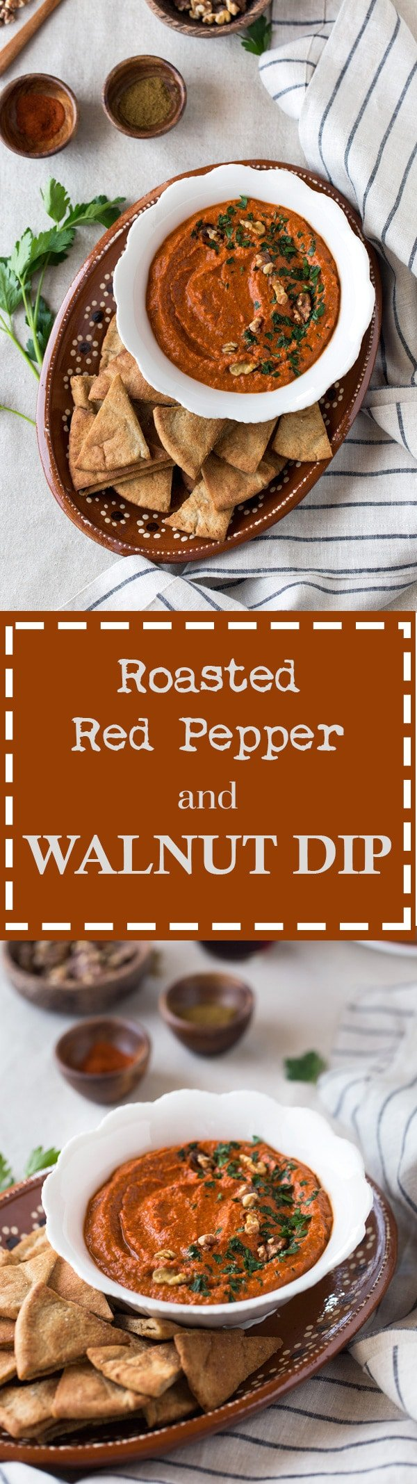 Roasted Red Pepper and Walnut Dip {Vegan}