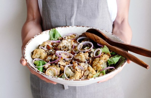 Roasted Cauliflower Salad with Lentils, Dates, and Tahini Roasted Cauliflower Salad with Lentils, Dates, and Tahini Dressing