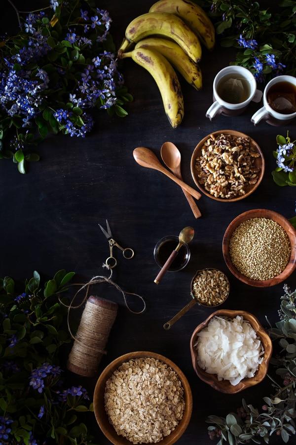 Ingredients for granola recipe