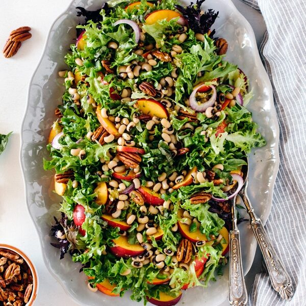 Black-Eyed Pea Salad with Peaches, Pecans, and Lime