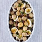 Baby Potatoes with Sun Dried Tomatoes and Caper Dressing I foolproofliving.com