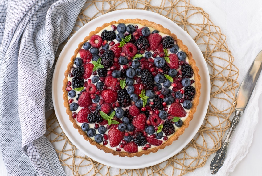 Summer Berry Tart I foolproofliving.com