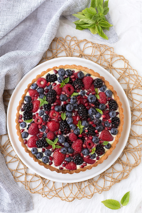 A classic recipe for Summer Berry Tart with a delicious pastry cream reinvented.