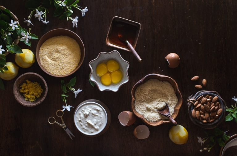 Ricotta and Almond Polenta Cake