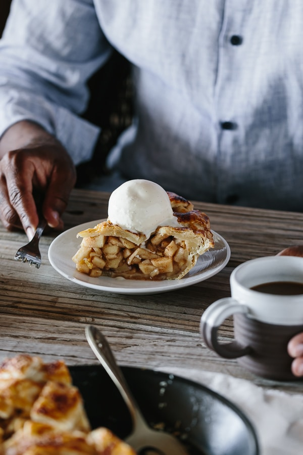 Caramel Apple Pie: A delicious apple pie recipe from Seven Spoons cookbook.