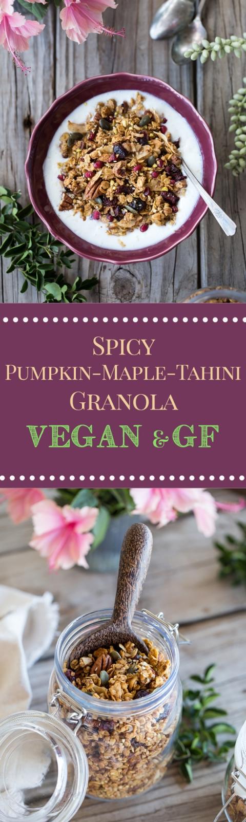 Spicy Pumpkin, Maple, and Tahini Granola
