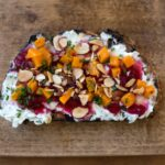 Herbed Goat Cheese Bruschetta with Butternut Squash and Cranberry Jam