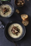 Creamy-Cauliflower-and-Celery-Root-Soup-with-Roasted-Shiitakes