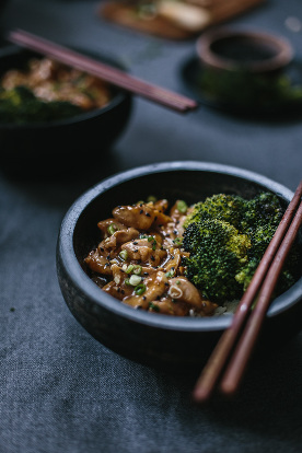 Quick Chicken Stir Fry with Roasted Broccoli