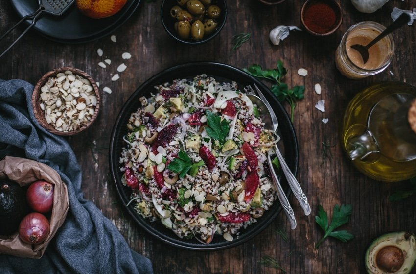 Avocado and Quinoa Salad with Blood Oranges and Fennel {Vegan ...