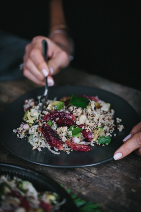 Avocado and Quinoa Salad with Blood Oranges and Fennel ...