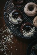 Chocolate Glazed Whole Wheat Banana Bread Donuts