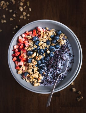 Forbidden Rice Morning Cereal Bowl with Berries