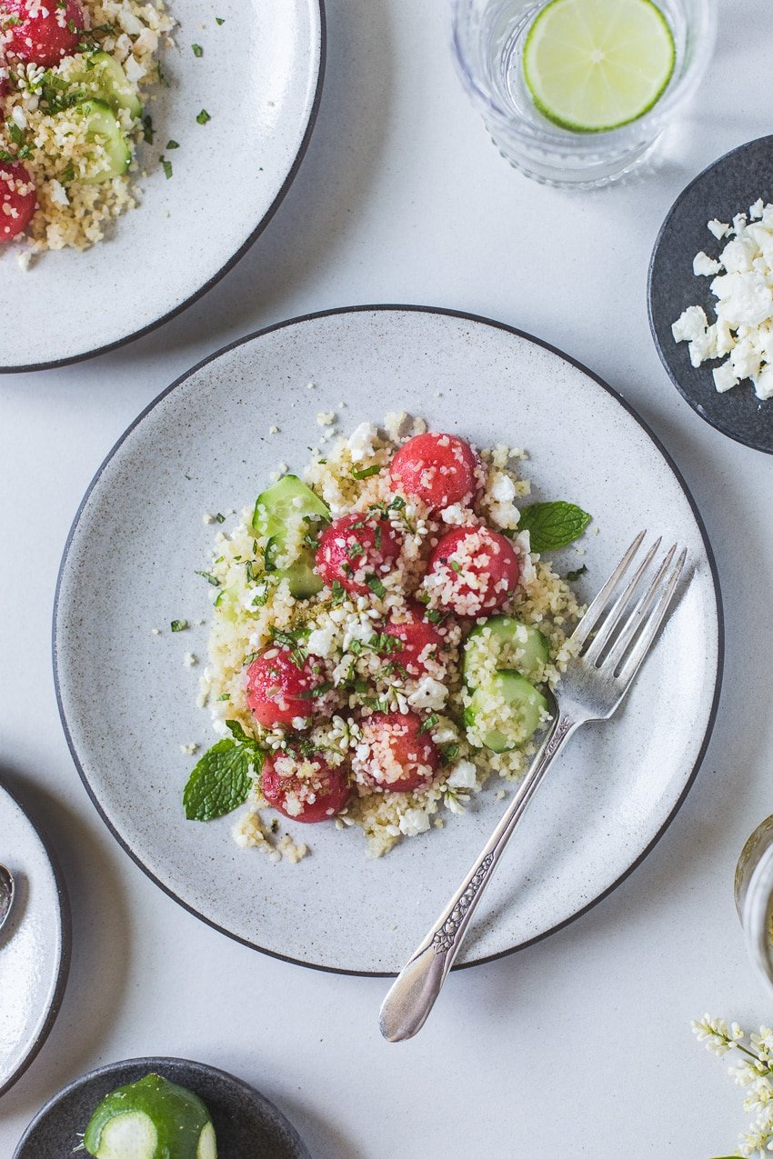 Minted Watermelon Salad with Bulgur