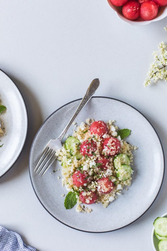 Minter Watermelon Salad with Bulgur