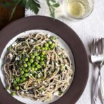 Creamy Mushroom Pasta with Fresh Peas and Ricotta