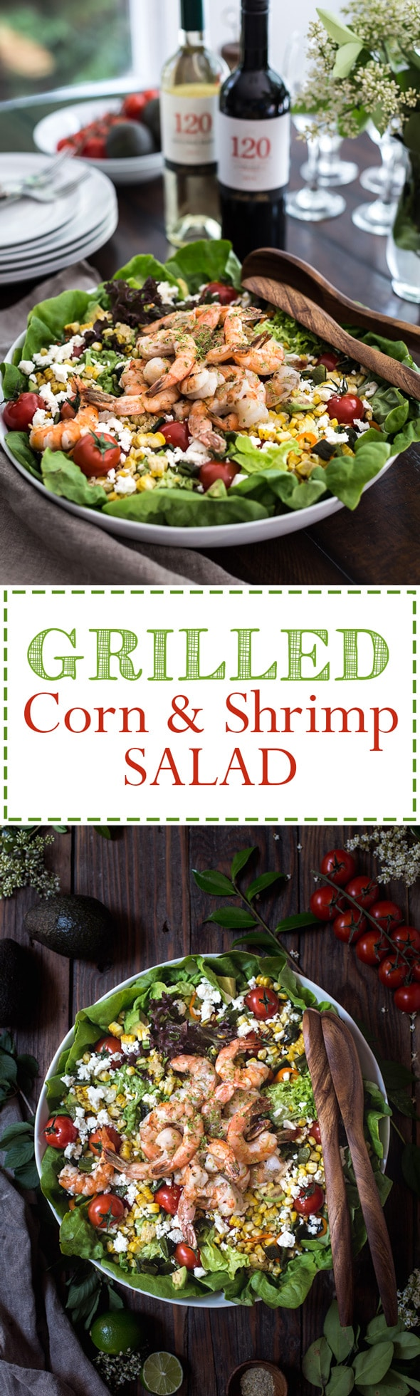 Grilled Shrimp and Corn Salad - A great summer salad dish and a post about tips on grilling shrimp and corn with ease. Up your grilling game and make this salad this summer.