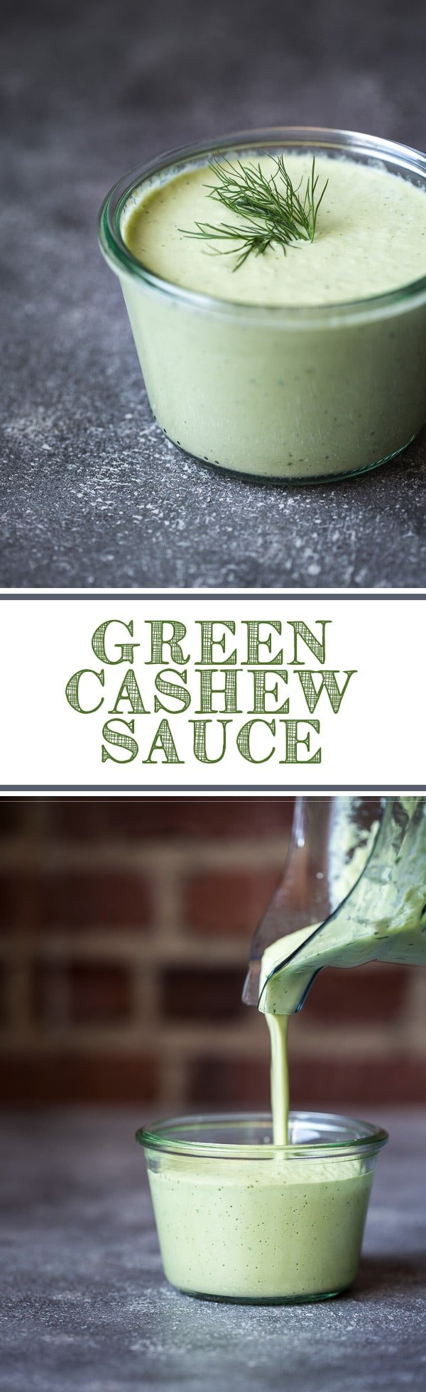 The Ultimate Green Cashew Recipe made with cashews, avocado, scallions, fresh herbs, and lemon juice. A vegan alternative to dairy-based sauces.
