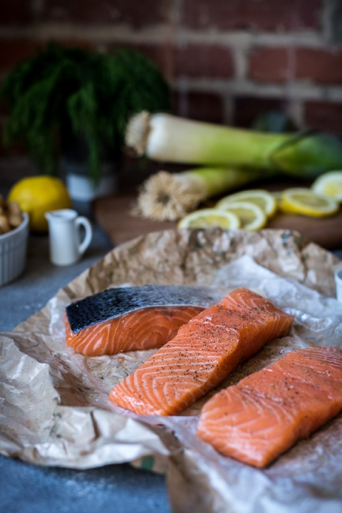 Slow-Baked Salmon with Butter Beans - Foolproof Living