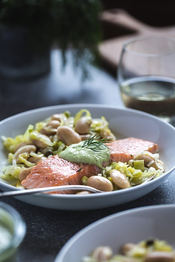 Slow-Baked Salmon with Butter Beans