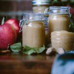 Slow Cooker Unsweetened Applesauce in bottles