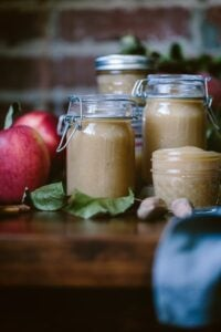 Homemade Slow Cooker Unsweetened Applesauce recipe - Learn how to easily make applesauce in your slow cooker. A great way to use all kinds of apples that are in abundance in the fall.