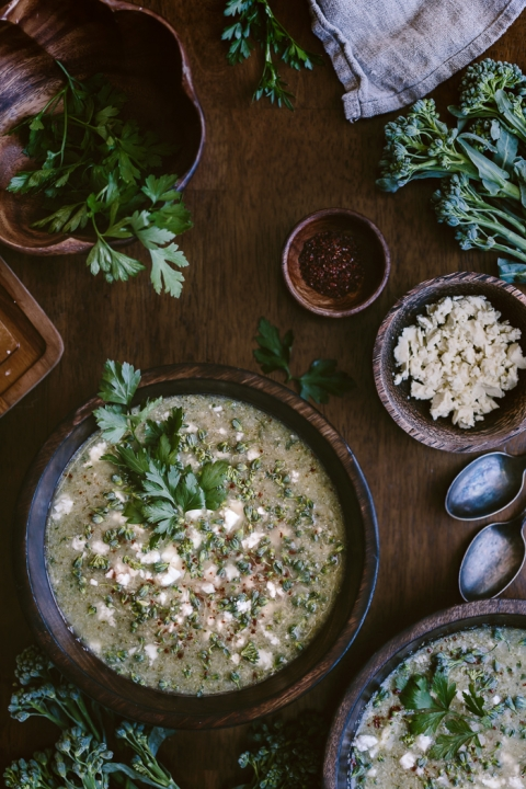 30-Minute Broccoli and Feta Soup Recipe: A quick and easy to make soup recipe that is packed with flavor.