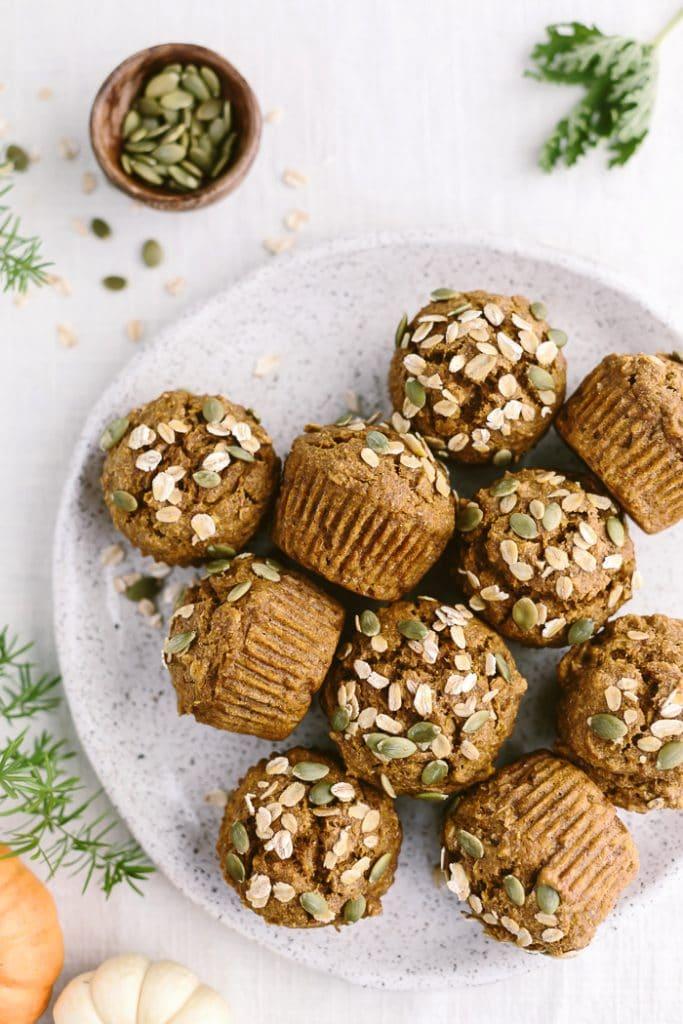 Maple-Sweetened Pumpkin Oat Muffins