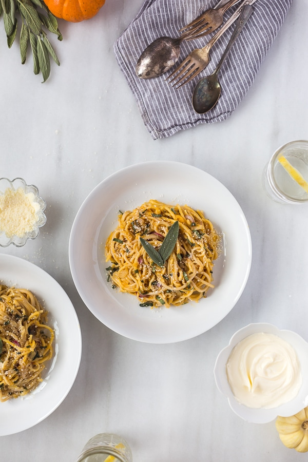 Pumpkin Creme Fraiche Pasta with Sage: An easy and quick to make pasta ...