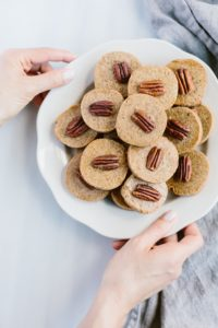 Naturally Sweetened Pecan Shortbread Cookies: A healthier alternative to shortbread cookies made with natural cane sugar.
