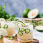 Cilantro-Infused Spicy Jalapeño Margaritas