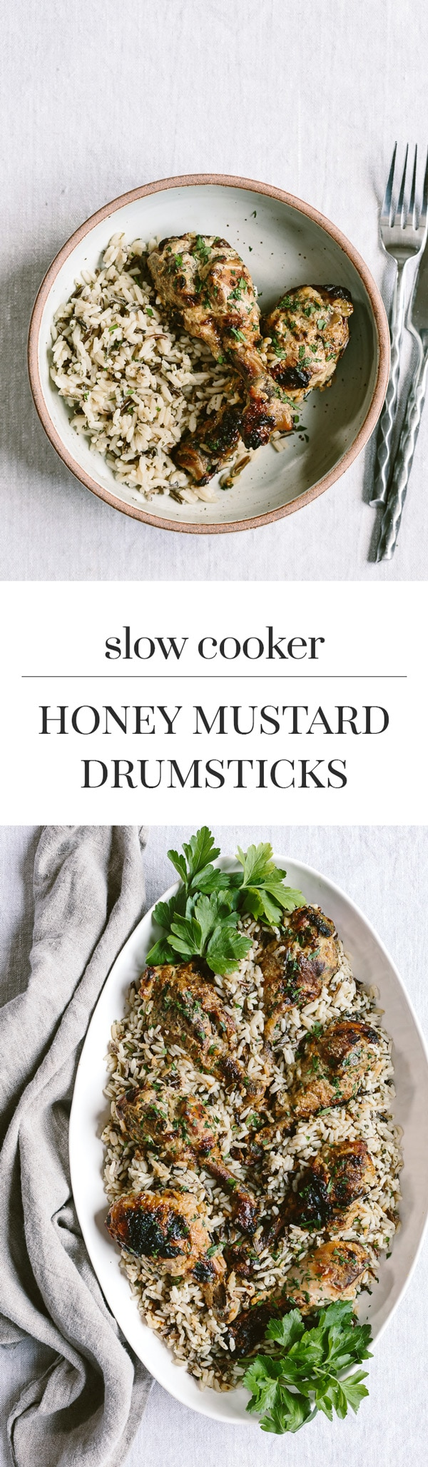 Slow Cooker Honey Mustard Drumsticks: A delicious crock-pot honey-mustard chicken drumsticks recipe.