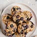Flourless Blueberry Muffins: Naturally sweetened blueberry muffins made with almond and coconut flours.