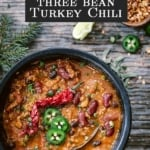 Three Bean Turkey Chili Recipe Image