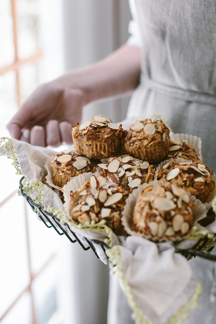 Person carrying a Parsnip Morning Glory Bran Muffins