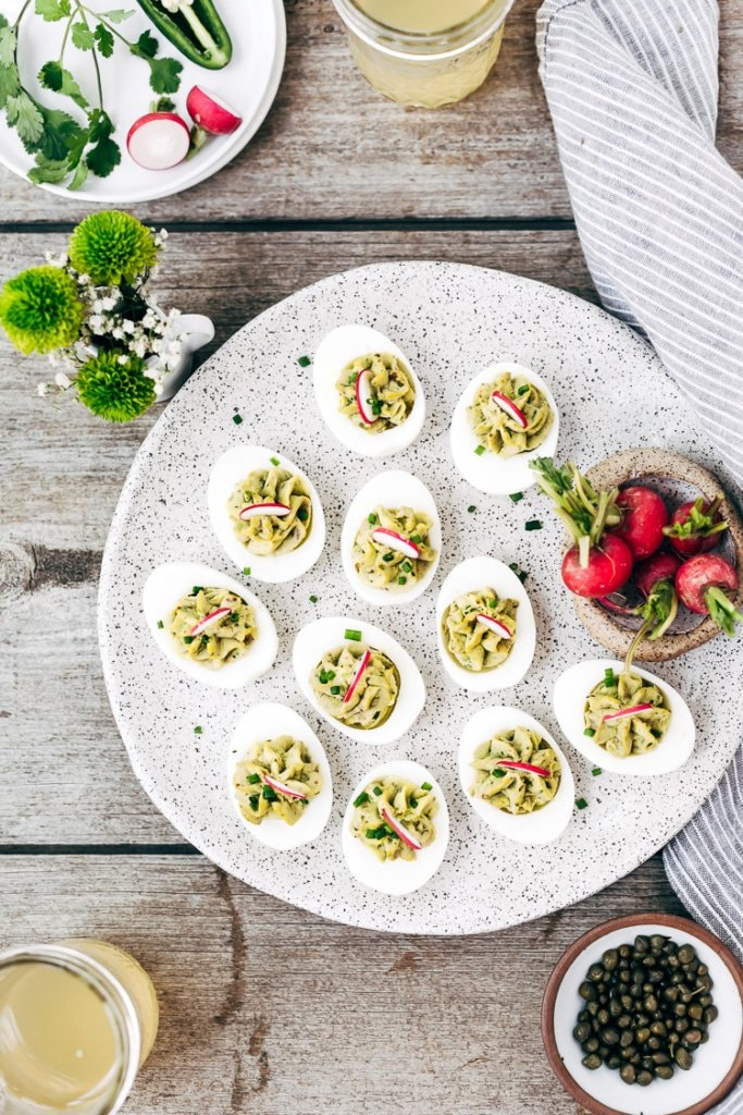 Avocado Deviled Eggs Without Mayo {HOW TO VIDEO}