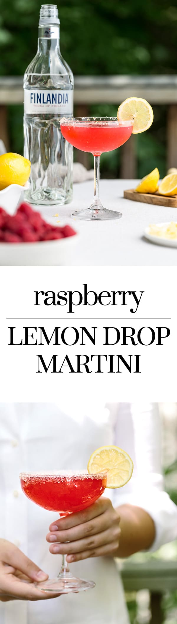 Raspberry Lemon Drop Martini: A refreshing cocktail recipe made with Finlandia vodka. #sponsored