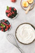 Homemade Maple Whipped Cream Recipe: Whether you use it on a cake or to simply top a bowl of fresh fruit, this maple sweetened whipped cream taste delicious and ready in 5 minutes