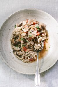 Recipe for Wild Mushroom Ragout with Farro