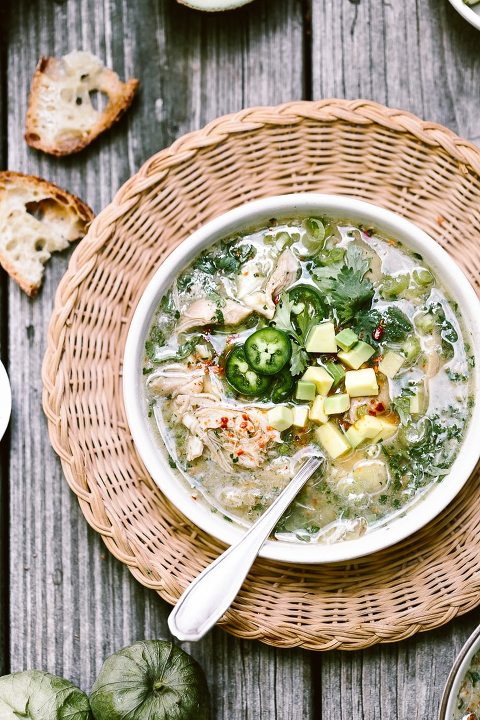 Crockpot Chicken Tomatillo Soup Recipe. Place all the recipes in your slow cooker and have a bowl of hearty soup ready in 8 hours.
