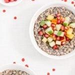 Overnight Coconut Buckwheat Porridge Recipe: Vegan breakfast porridge sweetened with fruits.