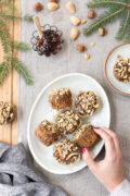 Recipe for easy banana nut muffins: Naturally sweetened and gluten-free muffins made with almond flour, walnuts, and coconut sugar.