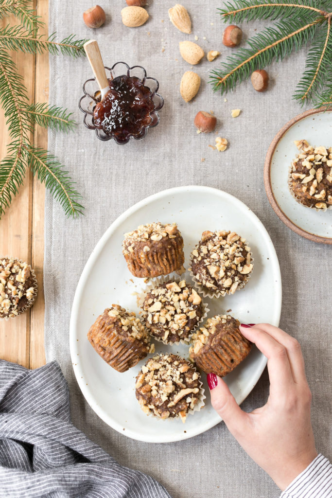 Healthier Easy Banana Nut Muffins