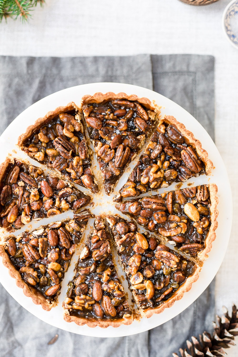 Sliced Caramel Nut Tart