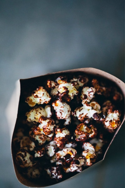 Delicious Chocolate Recipes - Sea Salted Dark Chocolate Pop Corn