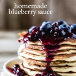Homemade Blueberry Sauce Recipe