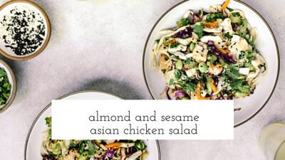 Almond and Sesame Asian Chicken Salad