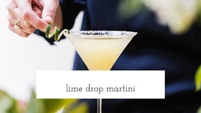 Lime Drop Martini