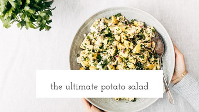 Potato salad in a large bowl